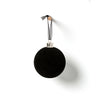 Papaya Noir Hanging Velvet Bauble Black Set 4 D8cm