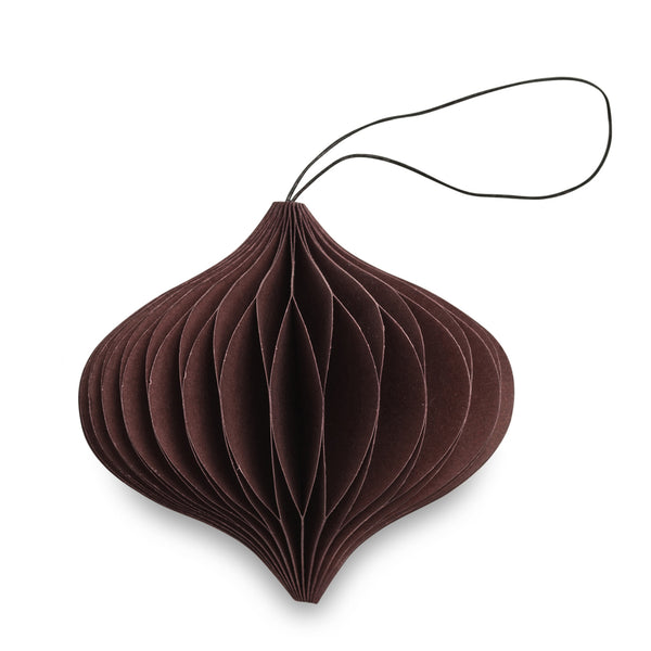Nordstjerne Chocolate Paper Onion Ornament