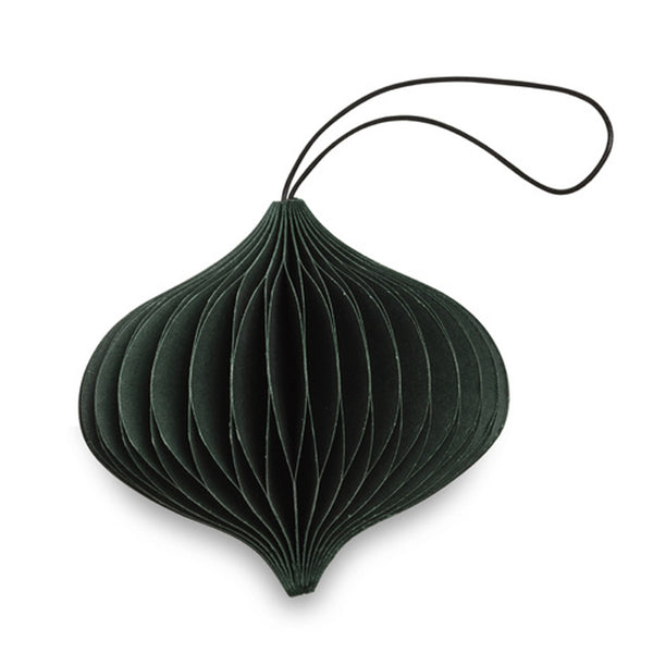Nordic Rooms Forest Green Paper Onion Ornament