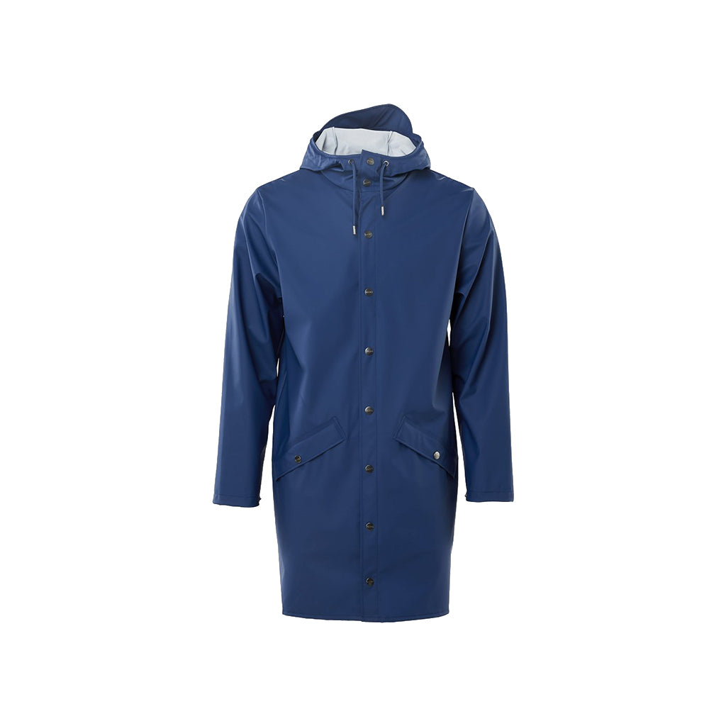 Rains Long Jacket Klein Blue