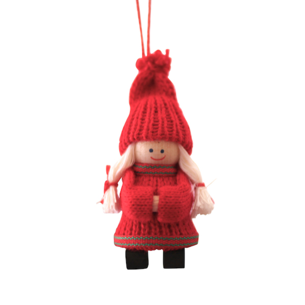 Santa Girl with Clogs Hanging