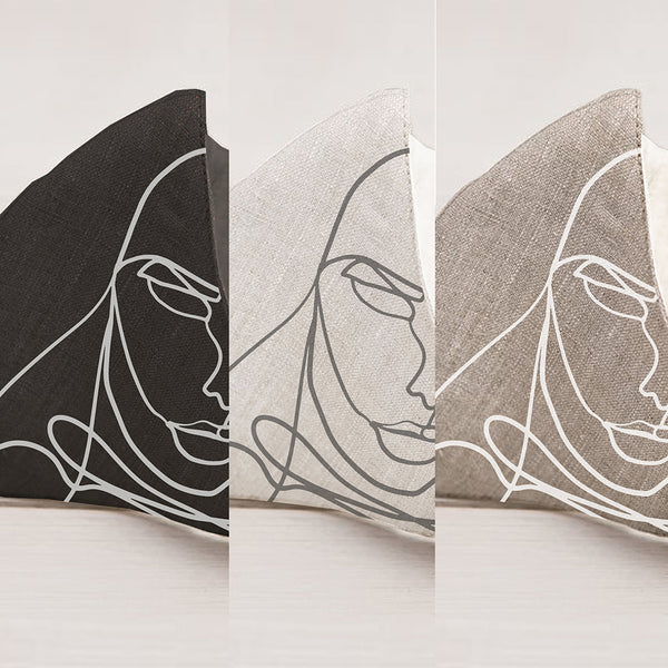 Sara Sidari Linen Face Mask 3 Pack