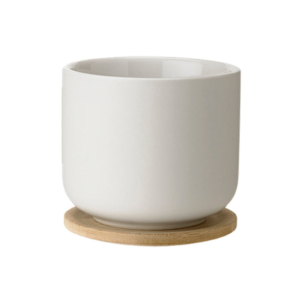 Stelton Theo Cup with Coaster - Sand