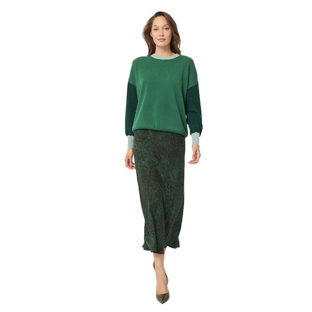 The Dreamer Label Stella Algae Silk Skirt