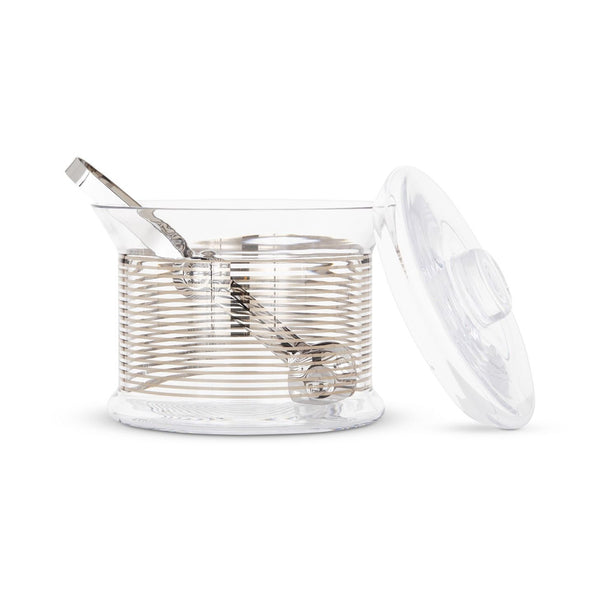 Tom Dixon Tank Platinum Stripe Ice Bucket & Tongs