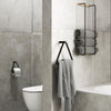 By Wirth Towel Hanger Oak and Leather