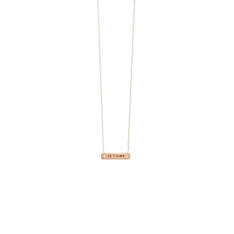 Vanrycke Bonnie & Clyde Rose Gold Necklace Je T'aime