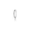 Vanrycke Stardust 18k White Gold 1 Diamond Medium Hoop Earring