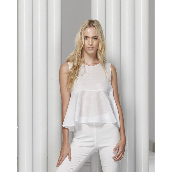 White Story Bretta  Sleeveless Shirt