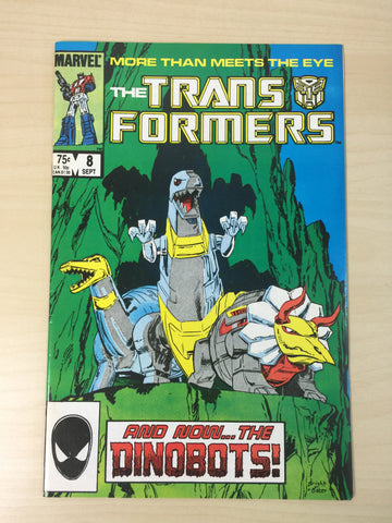 The Transformers #8 ***First Appearance of The Dinobots***