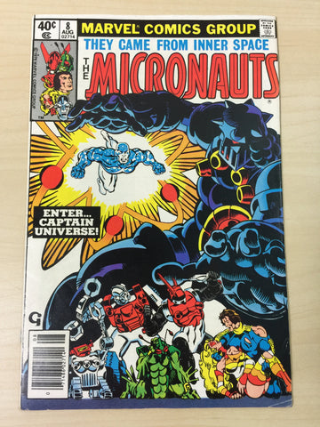 The Micronauts #8 *** First Appearance of Captain Universe***