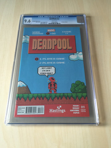 Deadpool #11 ***CGC 9.6***Hastings 8-bit Variant***