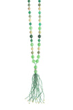 Tassle Necklace Green