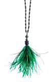 Green Feather Necklace