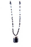 Denim Obsidian Necklace
