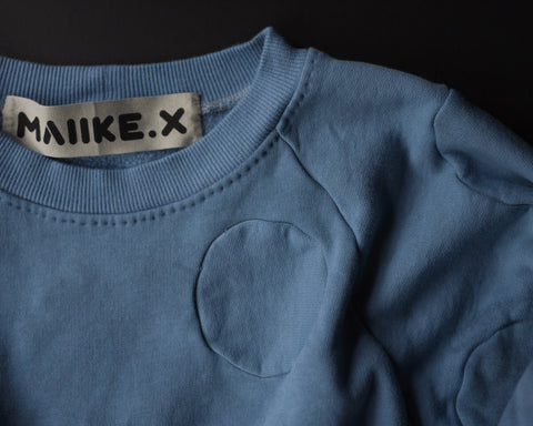 No 4 : Circle Sweater - steel blue