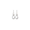 Silver Double Twisted Teardrop Earrings