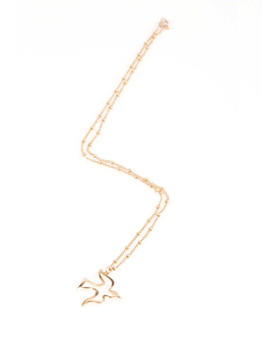 Dove Necklace in Gold