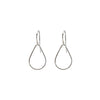 Hammered Teardrop Hoop Earrings in Silver
