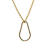 Gold Necklace with Teardrop