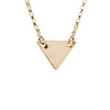 Minimalistic Triangle Necklace in Gold