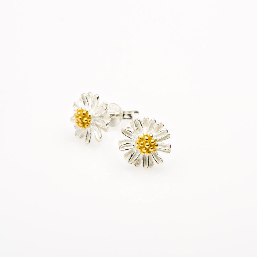 Daisy Silver Stud Earrings