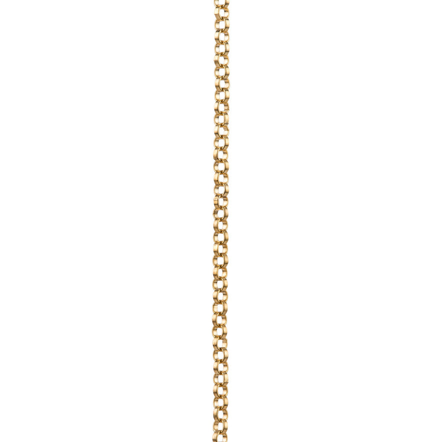 Gold chain with Silver Circle