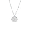 Initial Silver Necklace - Ball chain