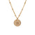 Initial Gold Necklace - Ball chain