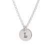 Initial Silver Necklace - Plain chain