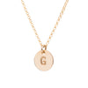 Initial Gold Necklace - Plain chain