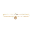 Initial bracelet in gold - Ball chain