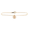 Initial bracelet in gold - Plain chain