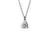 Beehive Silver Necklace