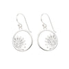 Silver Sun Flower Earrings
