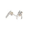 Tiny Wishbone Stud Earrings in Silver