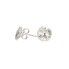 Lotus Leaf Stud Earrings in Silver