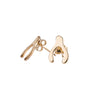 Wishbone Stud Earrings in Gold