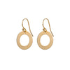 Circle Washer Disc Earrings in Gold