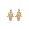 Large gold hamsa earrings