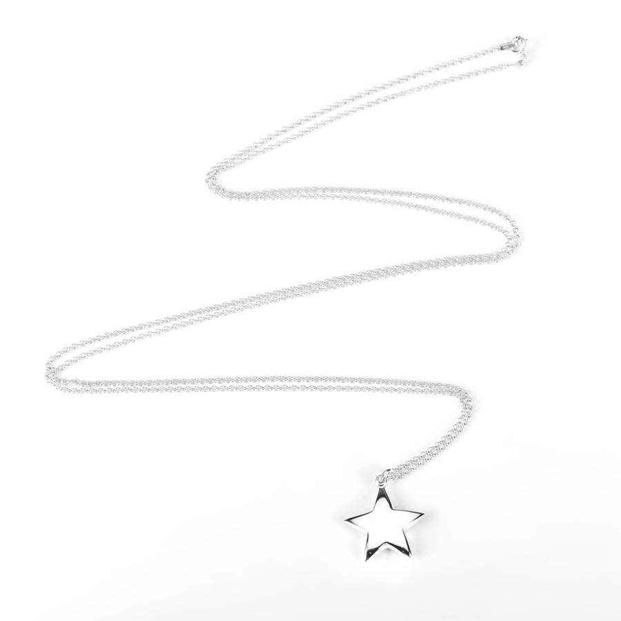 Silver Necklace with Large Star Pendant