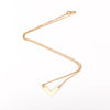 Gold Necklace with Large Chevron Pendant