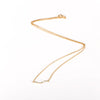 Wavy Bar Necklace in Gold
