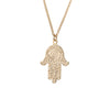 Hamsa Hand Necklace in Gold