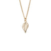 Small Leaf Necklace in Gold