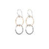 Mixed metal entwined circles earrings