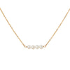 Gold Necklace with Freshwater Pearl Link