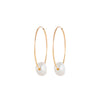 Endless Gold Hoops with Pearl