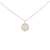 Silver Disc Pearl Necklace