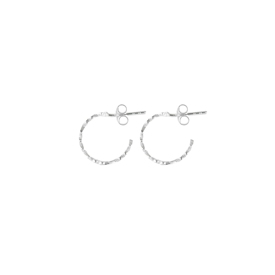 Tiny Stud Silver Earrings